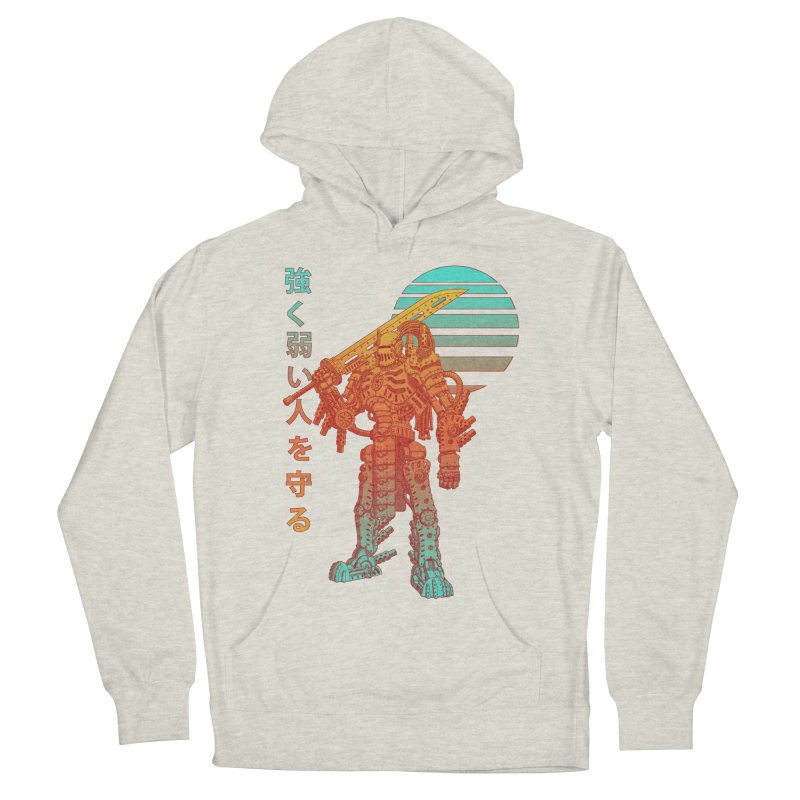The Strong Protect The Weak Men's French Terry Pullover Hoody by Den of the Wolf