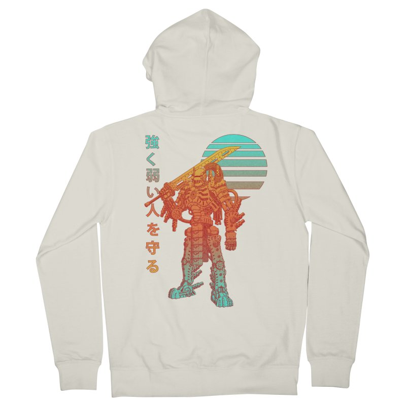 The Strong Protect The Weak Women's French Terry Zip-Up Hoody by Den of the Wolf