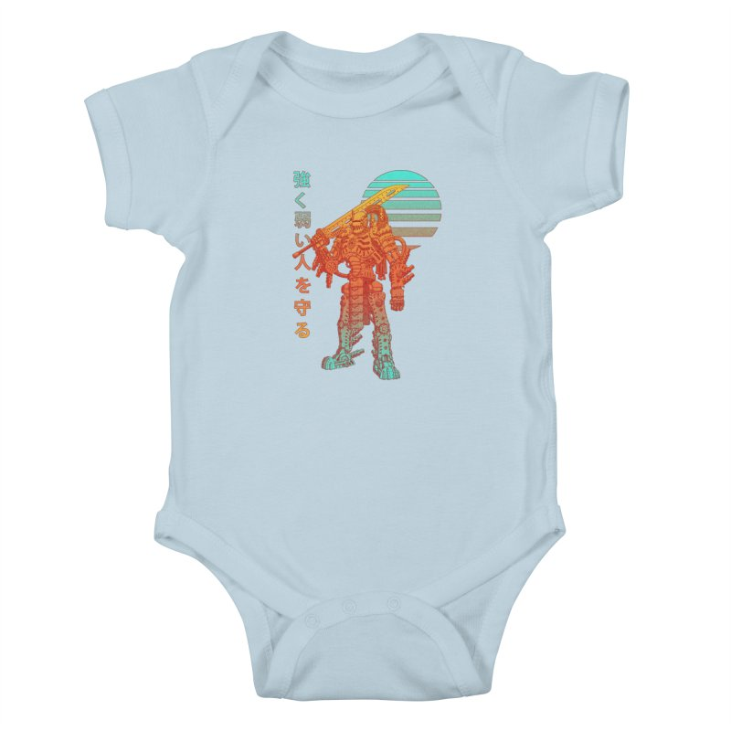 The Strong Protect The Weak Kids Baby Bodysuit by Den of the Wolf