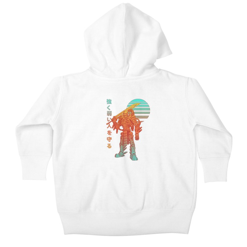 The Strong Protect The Weak Kids Baby Zip-Up Hoody by Den of the Wolf