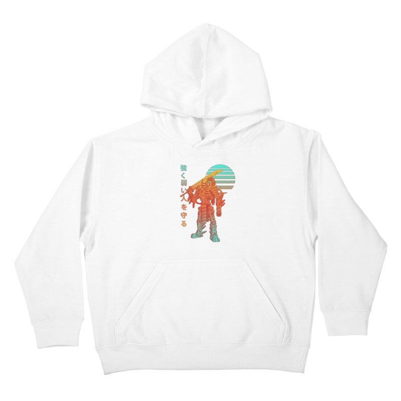 The Strong Protect The Weak Kids Pullover Hoody by Den of the Wolf