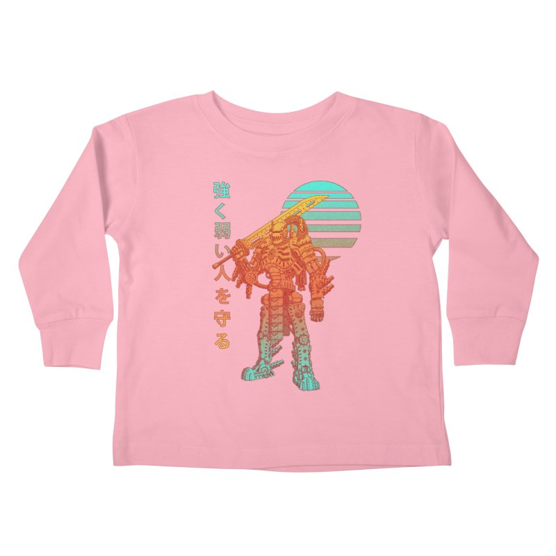 The Strong Protect The Weak Kids Toddler Longsleeve T-Shirt by Den of the Wolf