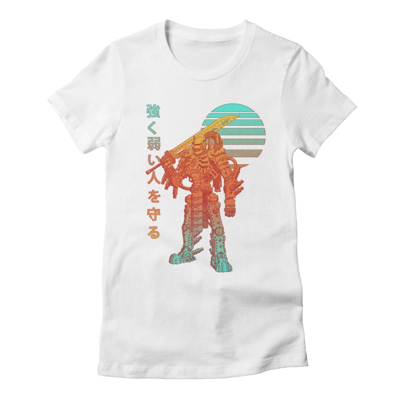 The Strong Protect The Weak Women's Fitted T-Shirt by Den of the Wolf
