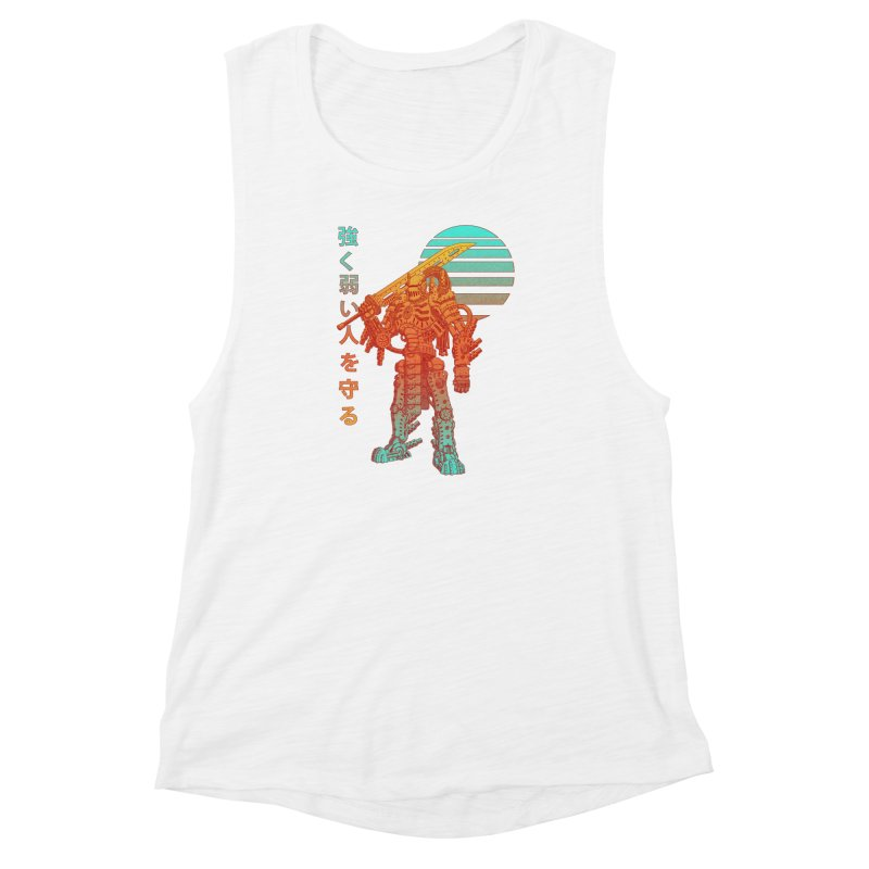The Strong Protect The Weak Women's Muscle Tank by Den of the Wolf
