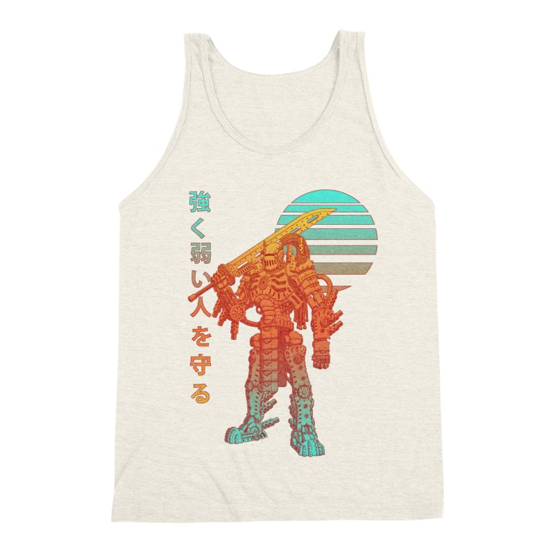 The Strong Protect The Weak Men's Triblend Tank by Den of the Wolf