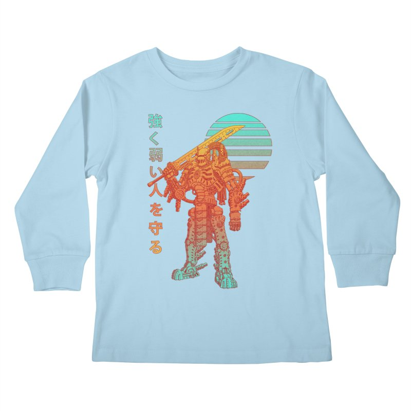 The Strong Protect The Weak Kids Longsleeve T-Shirt by Den of the Wolf