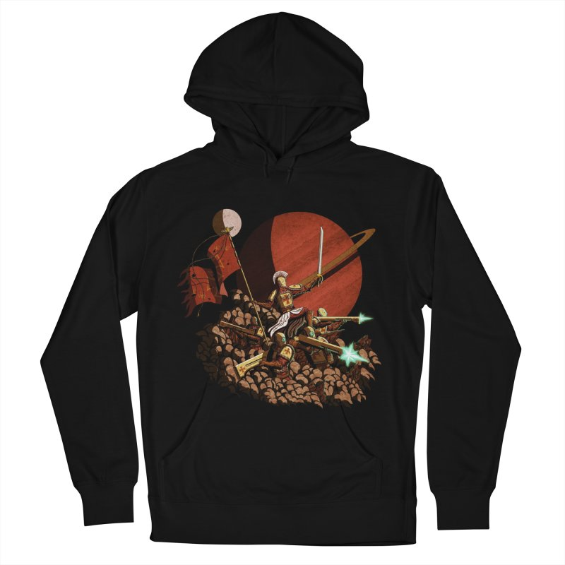 Onward, to Glory! Men's French Terry Pullover Hoody by Den of the Wolf
