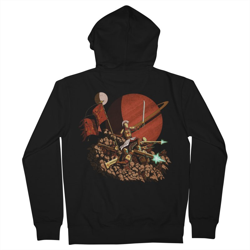 Onward, to Glory! Men's French Terry Zip-Up Hoody by Den of the Wolf