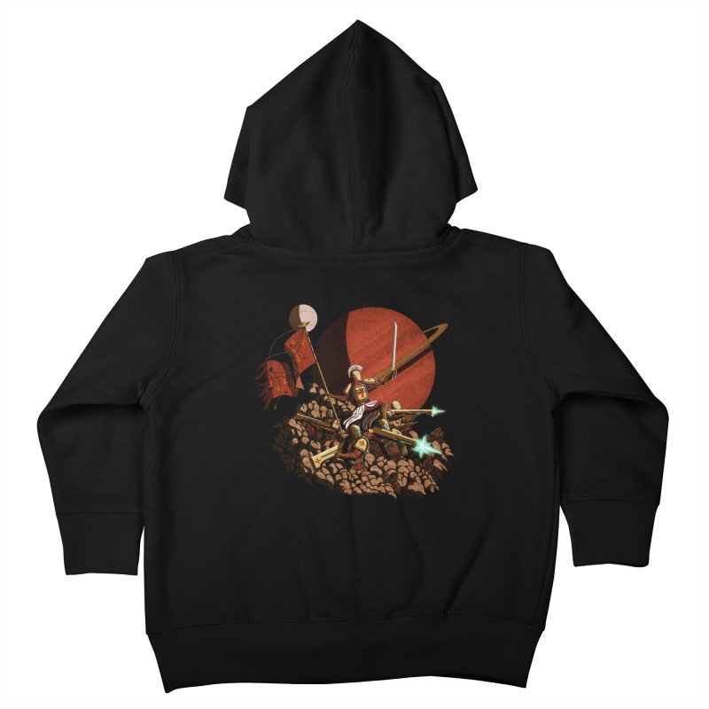 Onward, to Glory! Kids Toddler Zip-Up Hoody by Den of the Wolf
