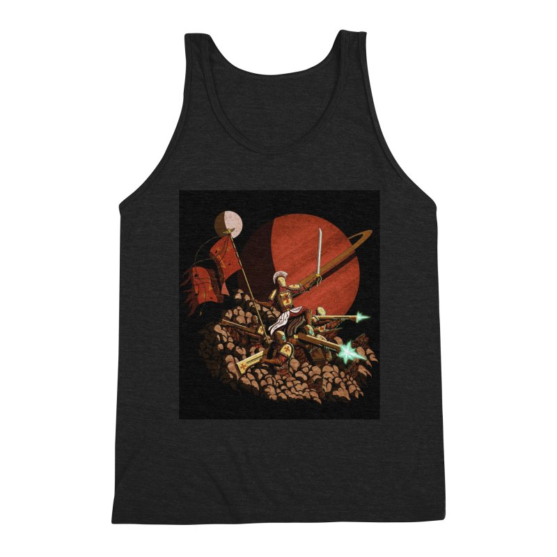 Onward, to Glory! Men's Triblend Tank by Den of the Wolf