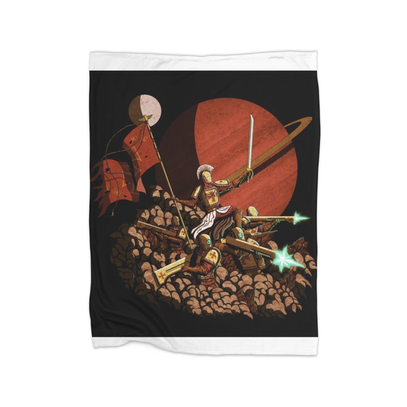 Onward, to Glory! Home Fleece Blanket Blanket by Den of the Wolf
