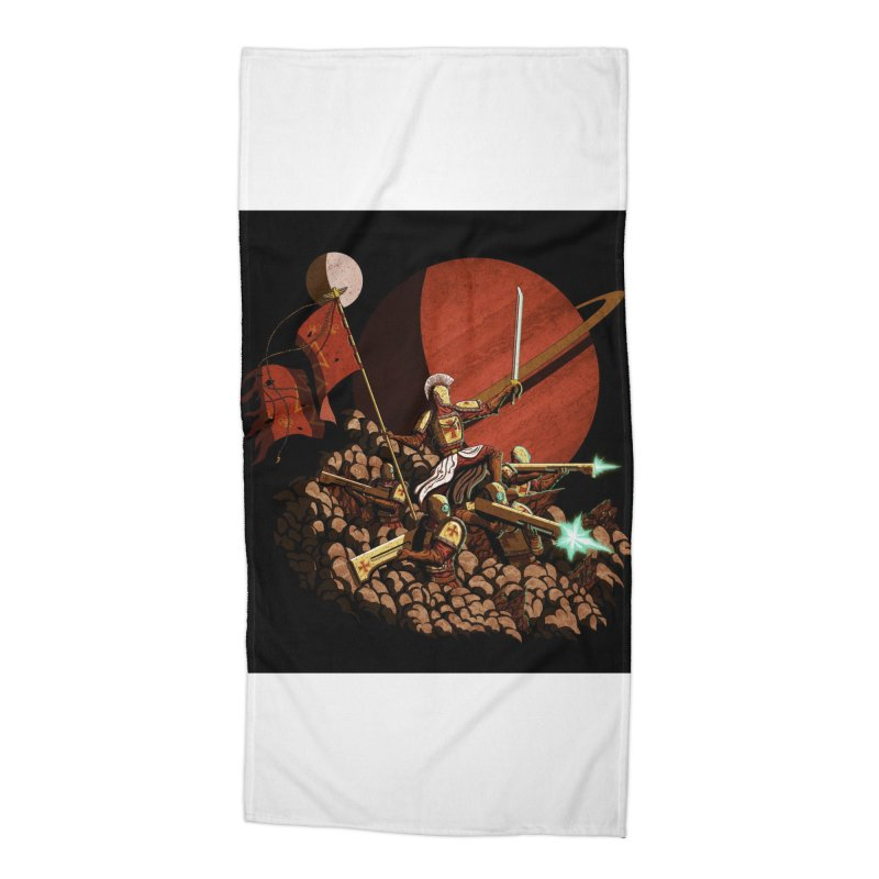 Onward, to Glory! Accessories Beach Towel by Den of the Wolf