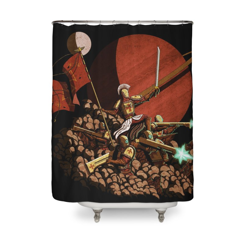 Onward, to Glory! Home Shower Curtain by Den of the Wolf