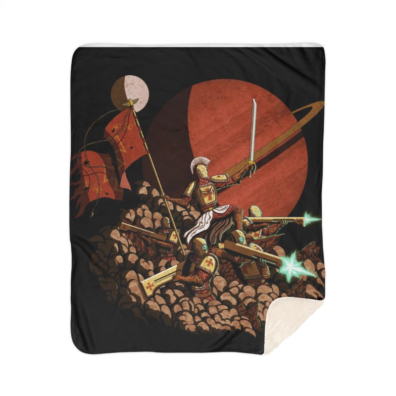 Onward, to Glory! Home Sherpa Blanket Blanket by Den of the Wolf