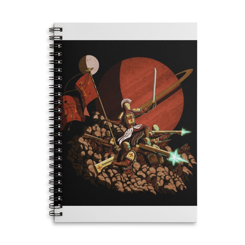 Onward, to Glory! Accessories Lined Spiral Notebook by Den of the Wolf