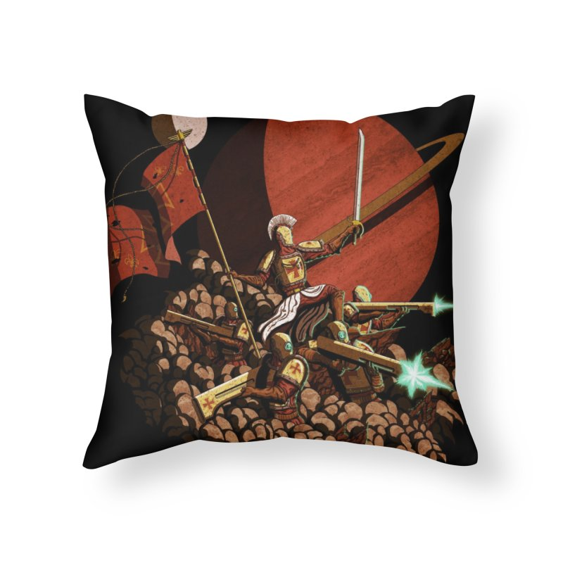 Onward, to Glory! Home Throw Pillow by Den of the Wolf