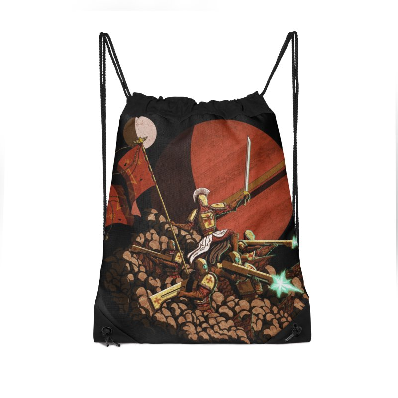 Onward, to Glory! Accessories Drawstring Bag Bag by Den of the Wolf
