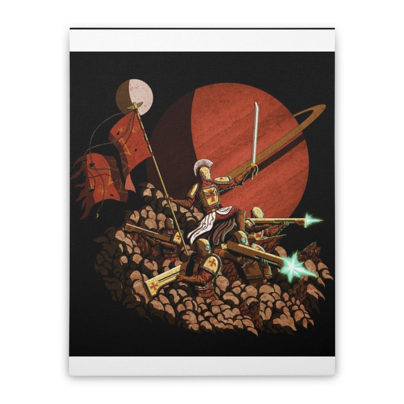 Onward, to Glory! Home Stretched Canvas by Den of the Wolf