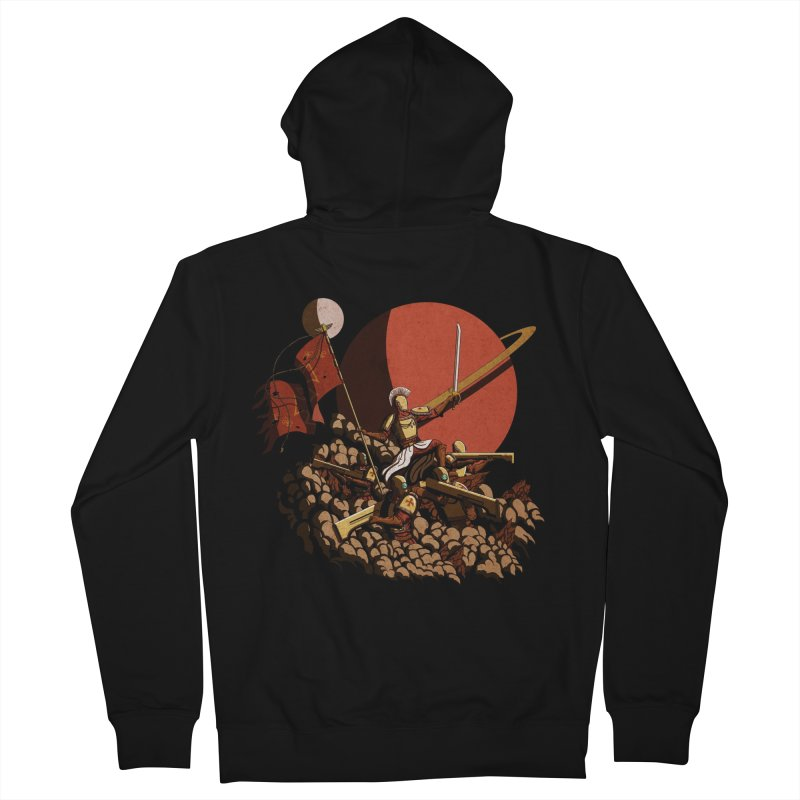 Onward, to Glory! Men's Zip-Up Hoody by Den of the Wolf