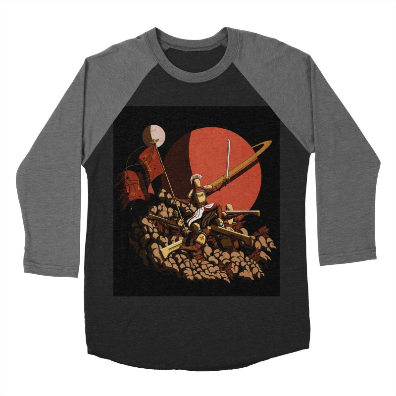 Onward, to Glory! Men's Baseball Triblend T-Shirt by Den of the Wolf