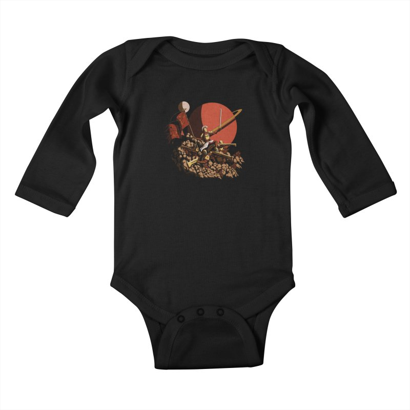 Onward, to Glory! Kids Baby Longsleeve Bodysuit by Den of the Wolf
