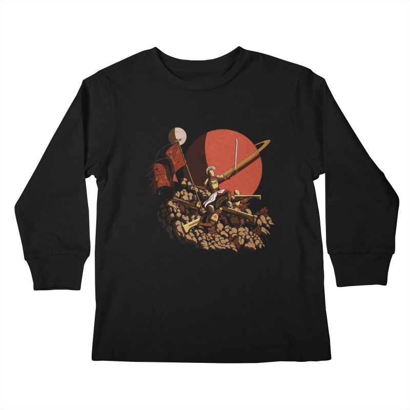 Onward, to Glory! Kids Longsleeve T-Shirt by Den of the Wolf