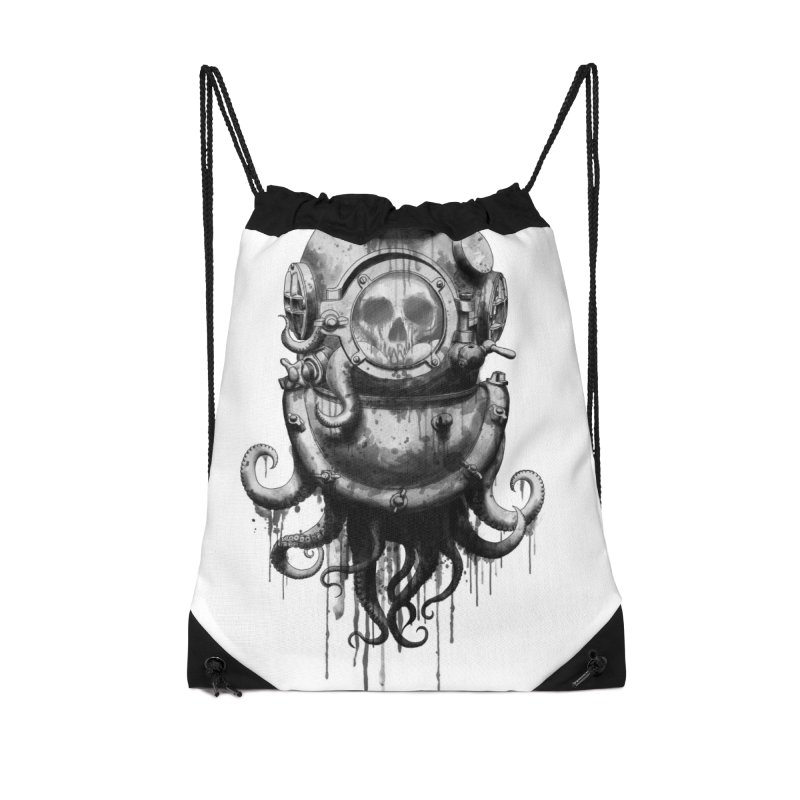 Of Salt and Nightmares Accessories Drawstring Bag Bag by Den of the Wolf