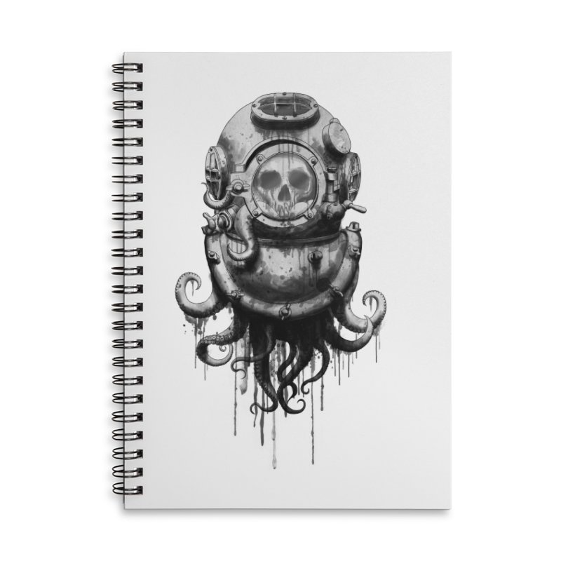 Of Salt and Nightmares Accessories Lined Spiral Notebook by Den of the Wolf