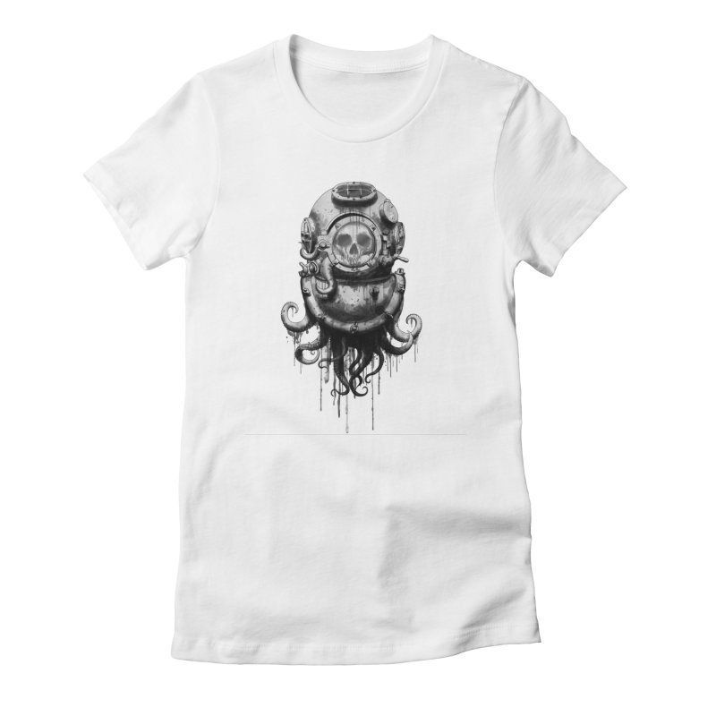 Of Salt and Nightmares Women's Fitted T-Shirt by Den of the Wolf
