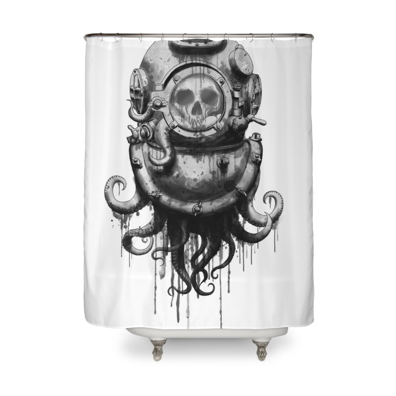 Of Salt and Nightmares Home Shower Curtain by Den of the Wolf