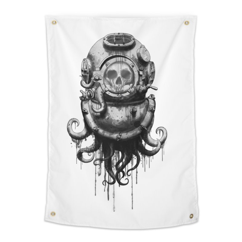 Of Salt and Nightmares Home Tapestry by Den of the Wolf
