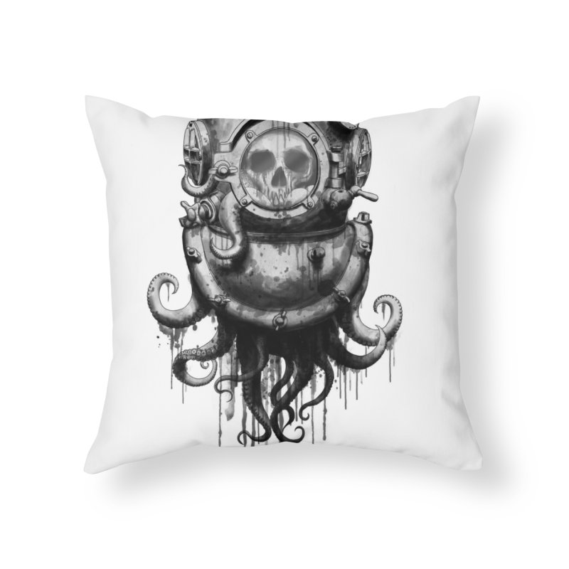 Of Salt and Nightmares Home Throw Pillow by Den of the Wolf