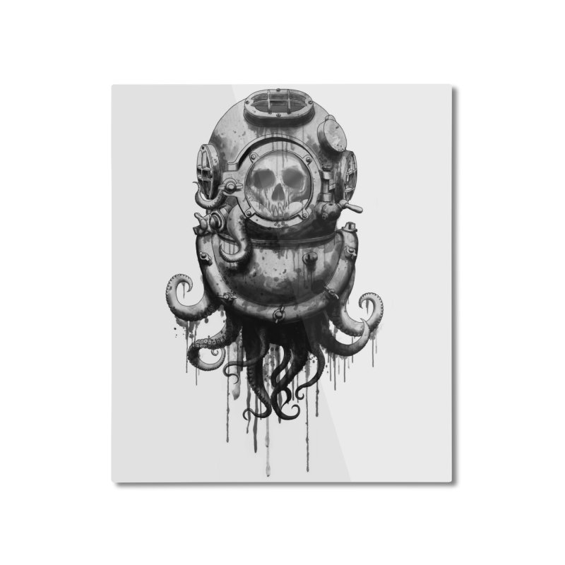 Of Salt and Nightmares Home Mounted Aluminum Print by Den of the Wolf