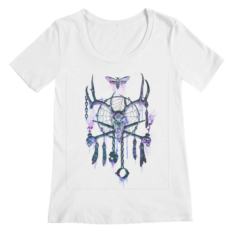 Of Dreams and Nightmares Women's Scoopneck by Den of the Wolf