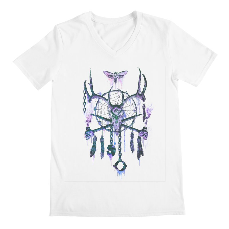 Of Dreams and Nightmares Men's Regular V-Neck by Den of the Wolf