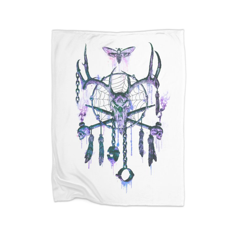 Of Dreams and Nightmares Home Fleece Blanket Blanket by Den of the Wolf