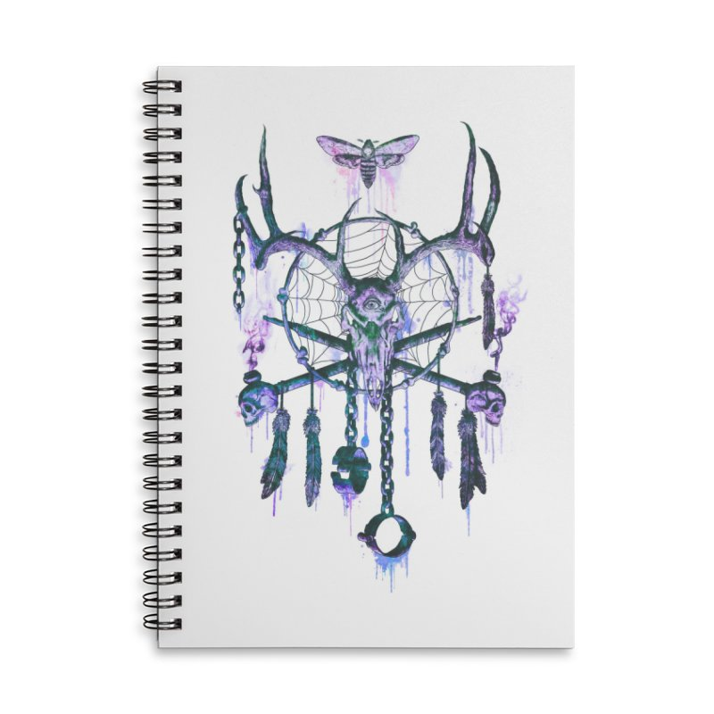Of Dreams and Nightmares Accessories Lined Spiral Notebook by Den of the Wolf
