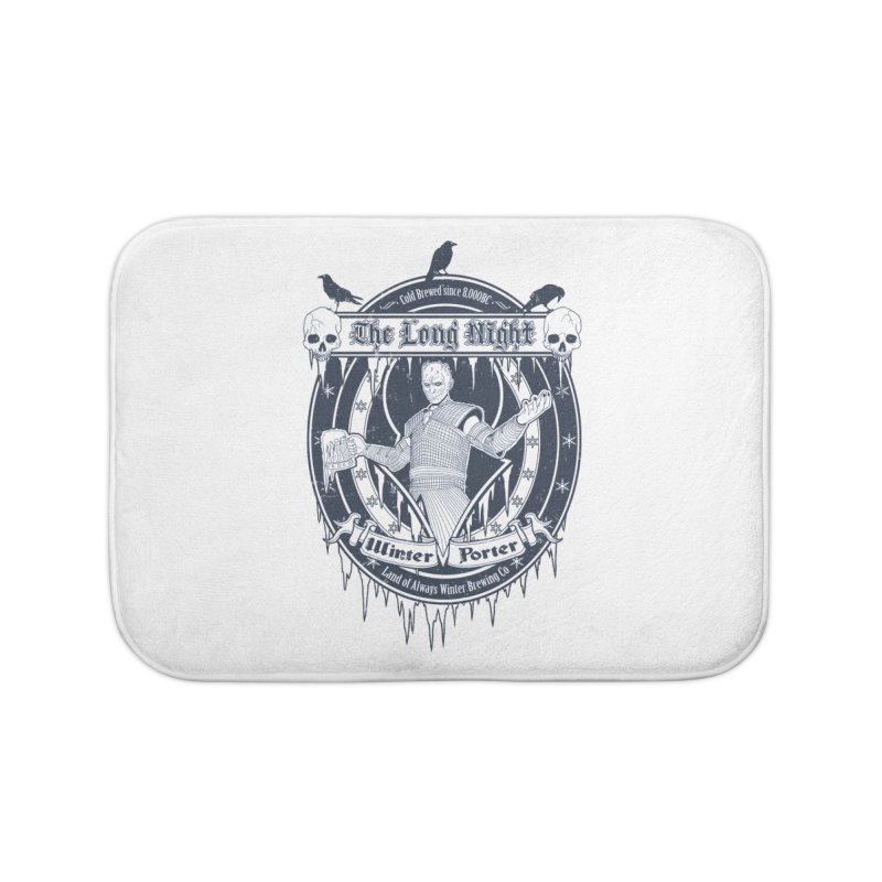 The Long Night Winter Porter Home Bath Mat by Den of the Wolf