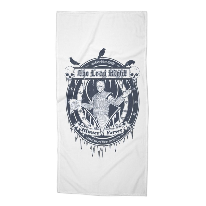 The Long Night Winter Porter Accessories Beach Towel by Den of the Wolf