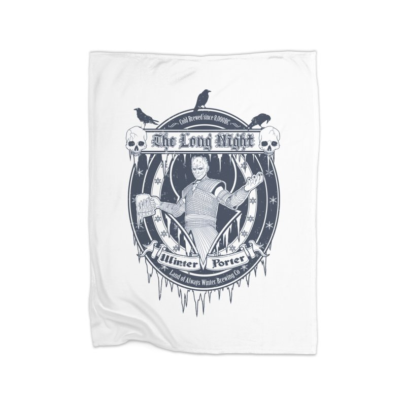 The Long Night Winter Porter Home Fleece Blanket Blanket by Den of the Wolf