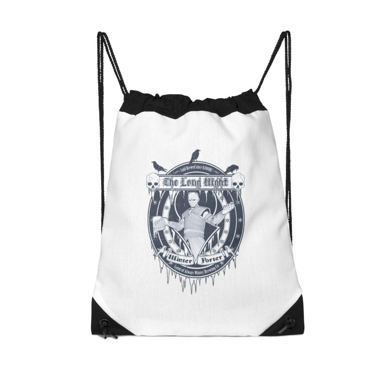 The Long Night Winter Porter Accessories Drawstring Bag Bag by Den of the Wolf