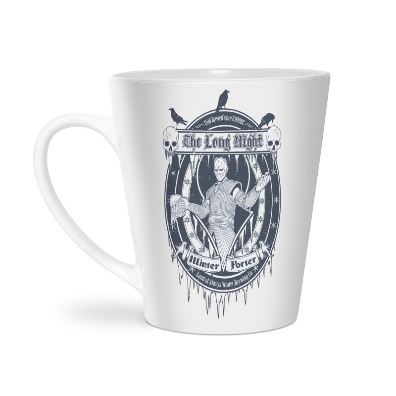 The Long Night Winter Porter Accessories Latte Mug by Den of the Wolf