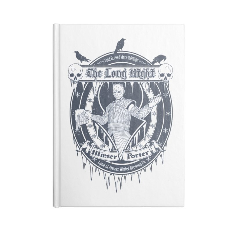 The Long Night Winter Porter Accessories Blank Journal Notebook by Den of the Wolf