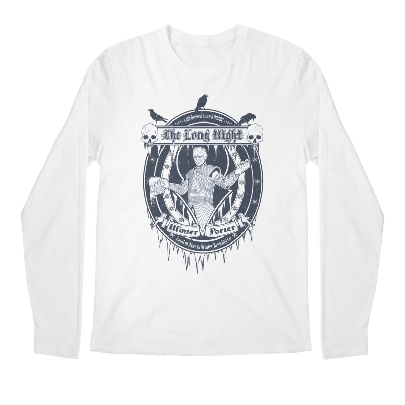 The Long Night Winter Porter Men's Longsleeve T-Shirt by Den of the Wolf