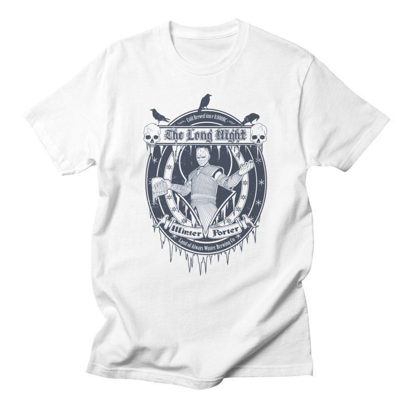 The Long Night Winter Porter Men's T-Shirt by Den of the Wolf