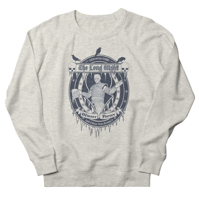 The Long Night Winter Porter Men's French Terry Sweatshirt by Den of the Wolf