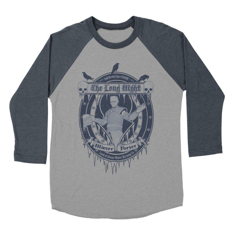 The Long Night Winter Porter Men's Baseball Triblend Longsleeve T-Shirt by Den of the Wolf