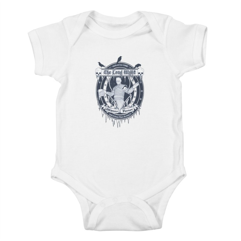 The Long Night Winter Porter Kids Baby Bodysuit by Den of the Wolf