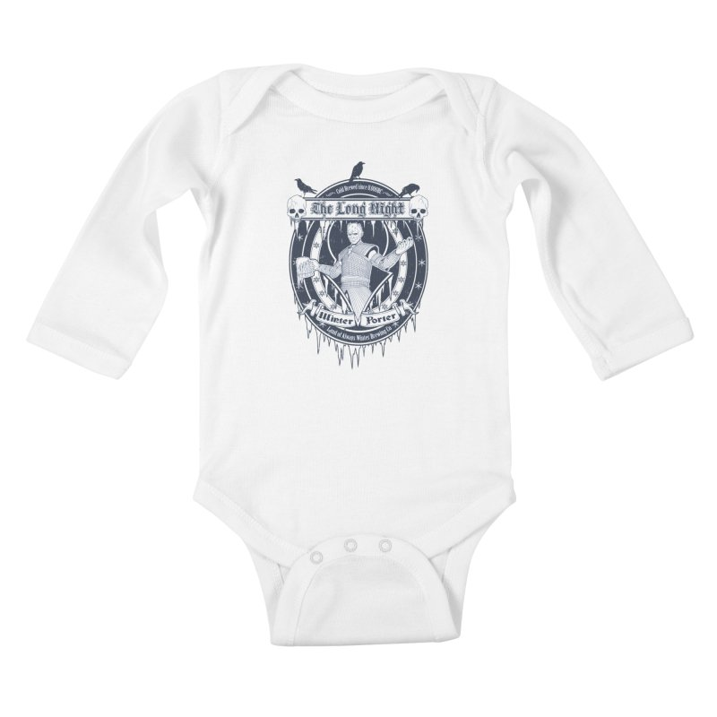 The Long Night Winter Porter Kids Baby Longsleeve Bodysuit by Den of the Wolf