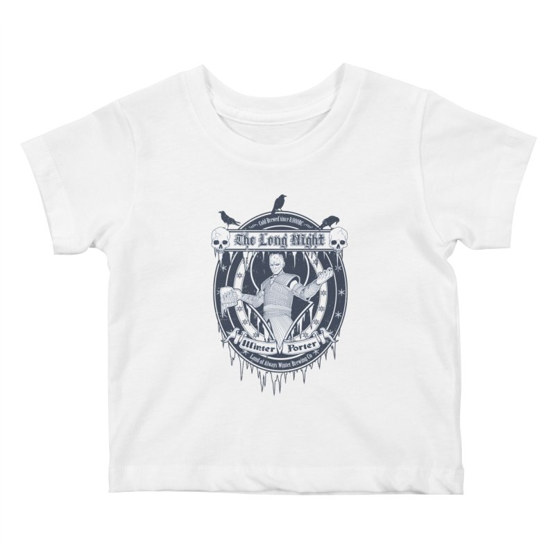 The Long Night Winter Porter Kids Baby T-Shirt by Den of the Wolf